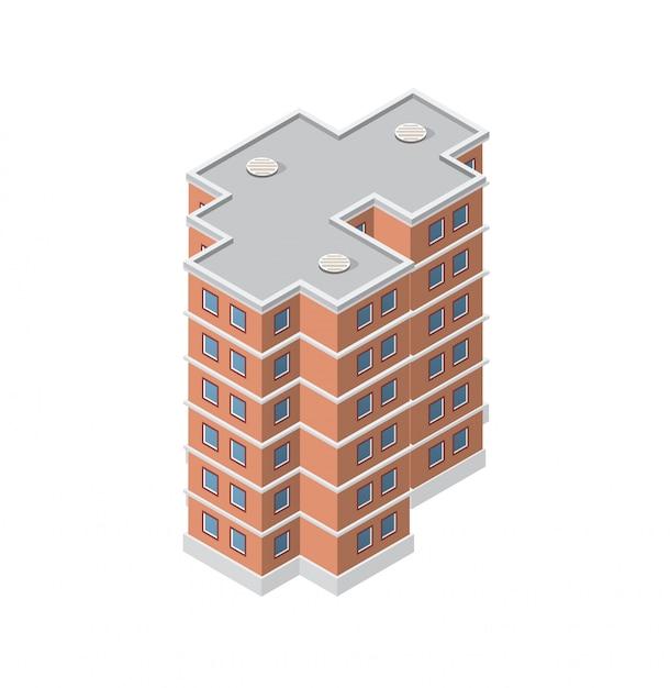 La maison de construction intelligente Vecteur Premium