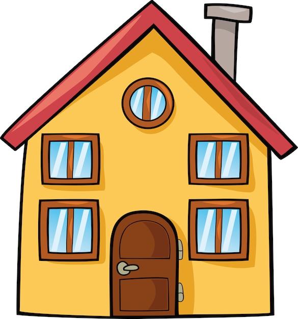 Maison de dessin anim t l charger des vecteurs premium for Dessins maison