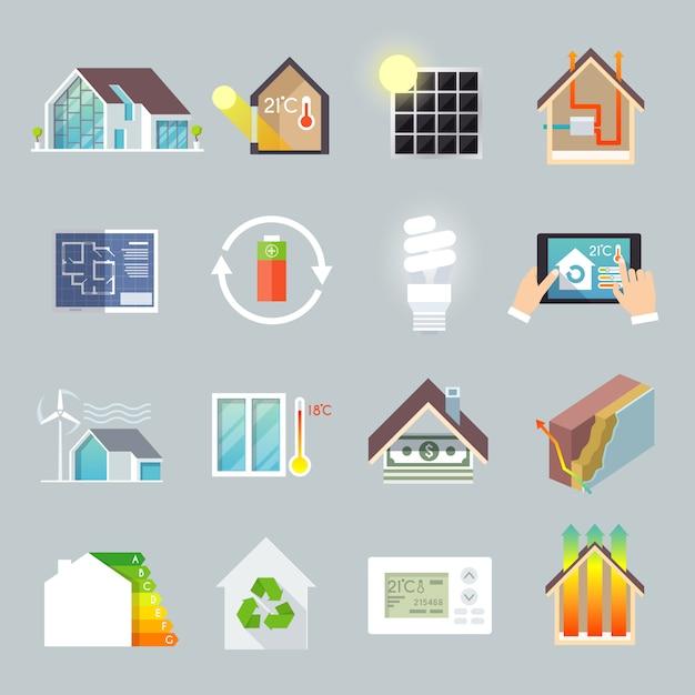 Maison d'économie d'énergie Vecteur gratuit