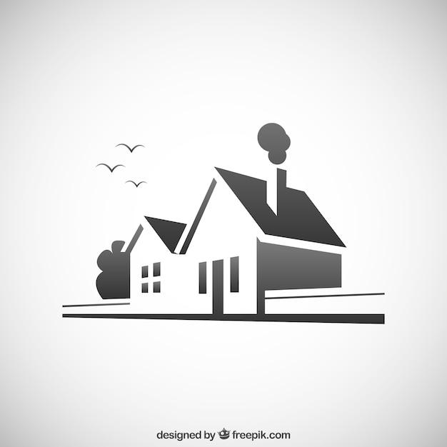 Maison icône pour les agences immobilières Vecteur gratuit