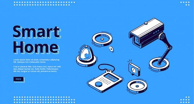 Maison Intelligente, Internet Des Objets Web Isométrique Vecteur gratuit