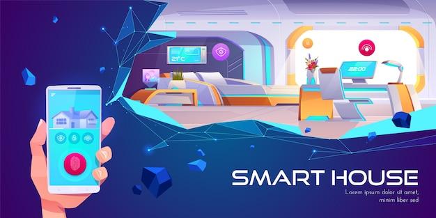 Maison Intelligente Et Technologie D'intelligence Artificielle Vecteur gratuit