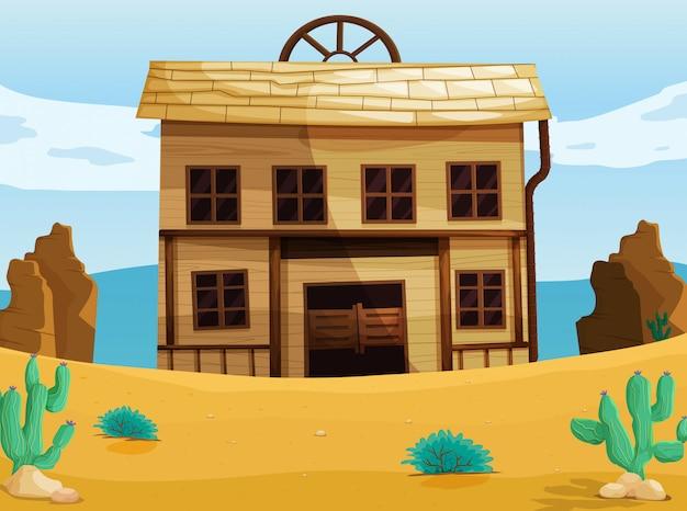 Maison à L'ouest Vecteur gratuit