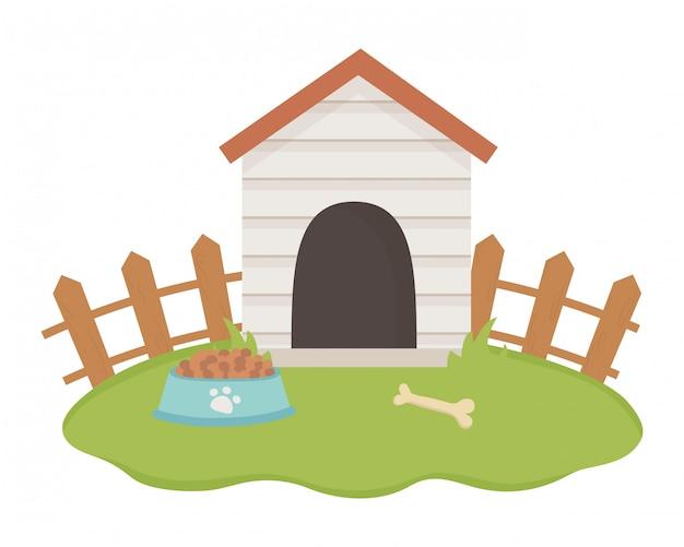 Maison Pour Mascotte Vecteur gratuit