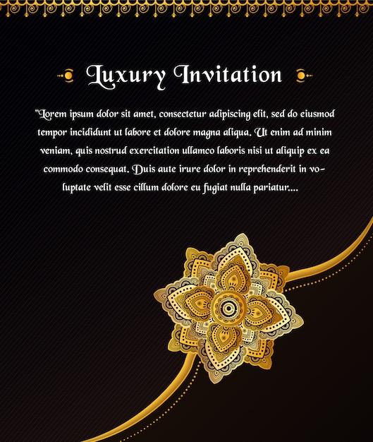 Mandala art design ornement Vecteur Premium