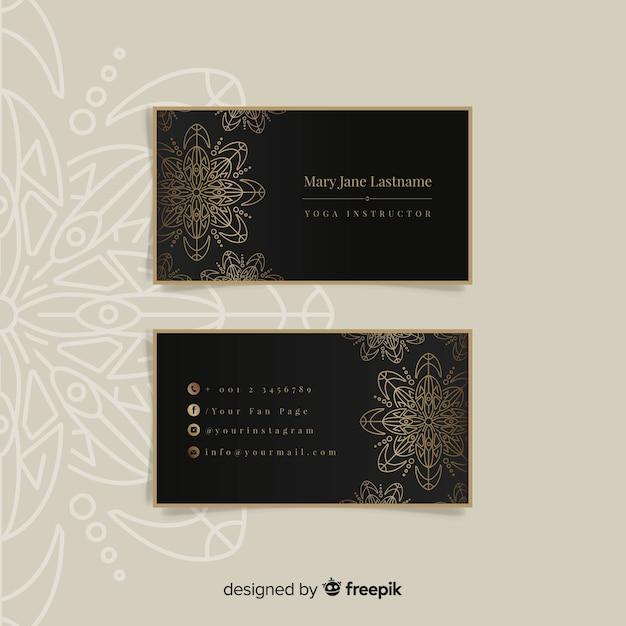 Mandala et cartes de visite de luxe Vecteur gratuit