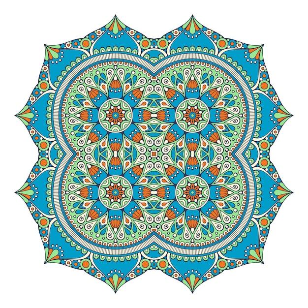 Mandala Coloré De Vecteur Vecteur Premium