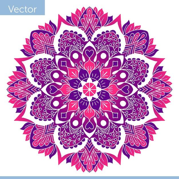 Mandala décoratif coloré Vecteur Premium