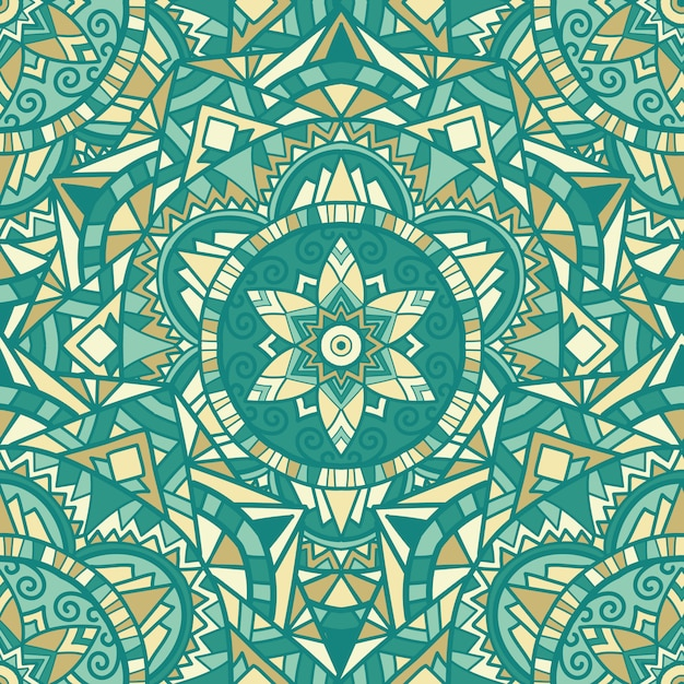 Mandala design pour l'impression. ornement tribal. Vecteur Premium