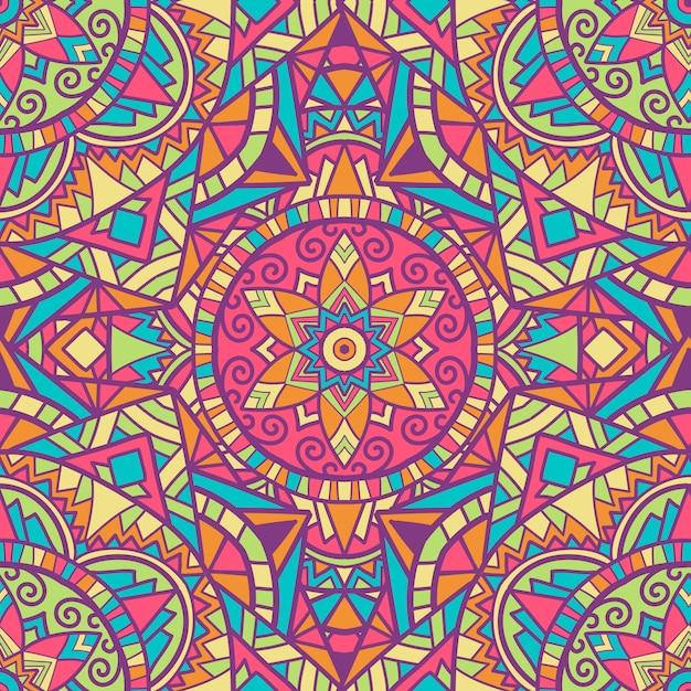 Mandala design vintage pour l'impression. ornement tribal. Vecteur Premium