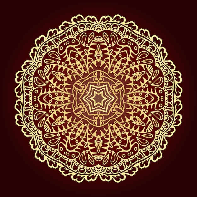 Mandala élément décoratif ethnique. motifs islamiques, arabes, indiens, ottomans. Vecteur gratuit