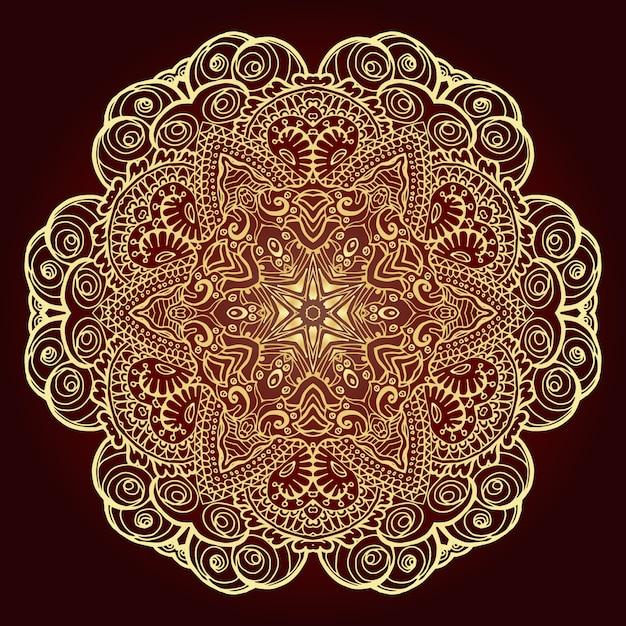 Mandala élément décoratif ethnique. Vecteur gratuit