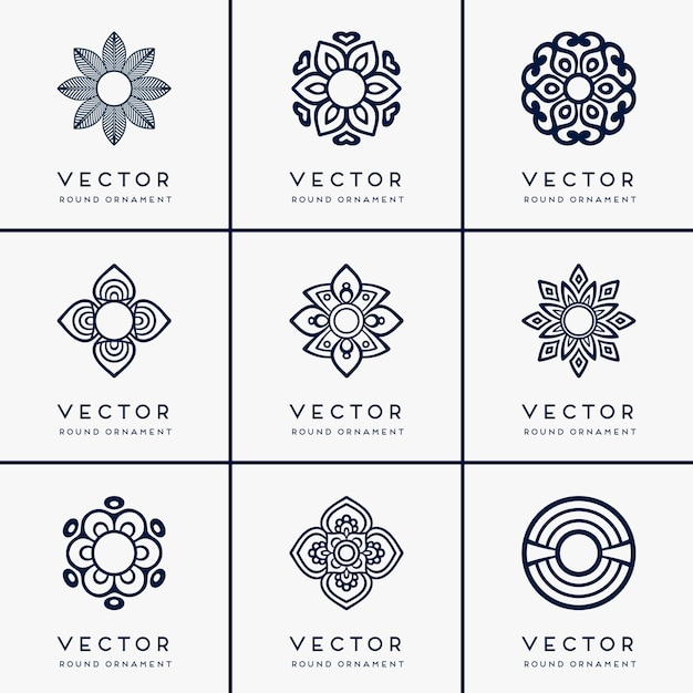 Mandala ethnique vectorielle Vecteur gratuit