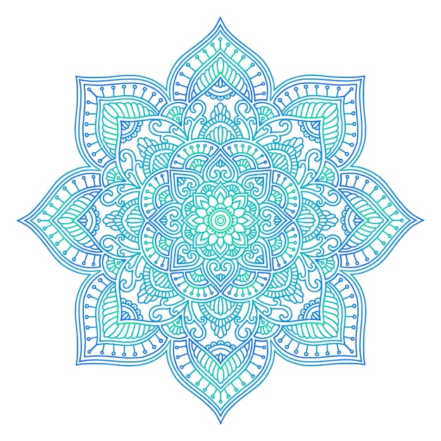 Mandala ethnique Vecteur Premium