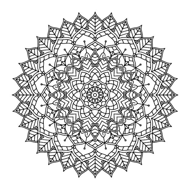 Mandala floral décoratif Vecteur gratuit