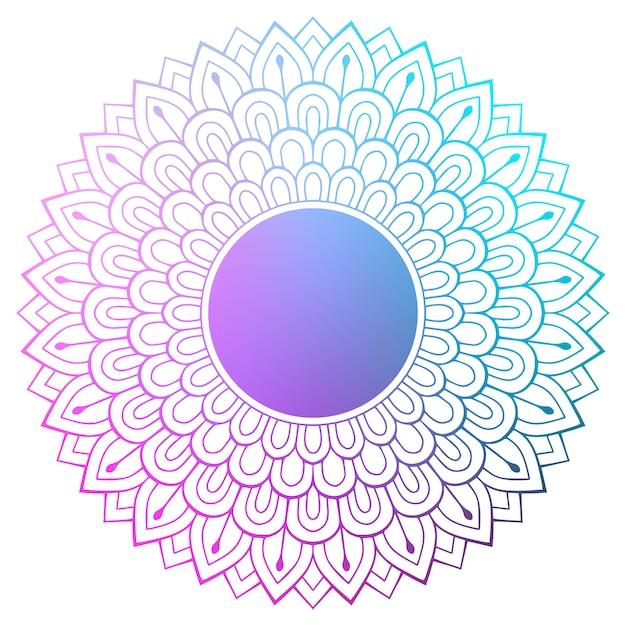 Mandala indien de vecteur Vecteur gratuit