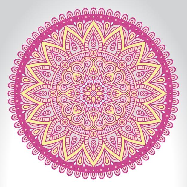Mandala indien Vecteur gratuit