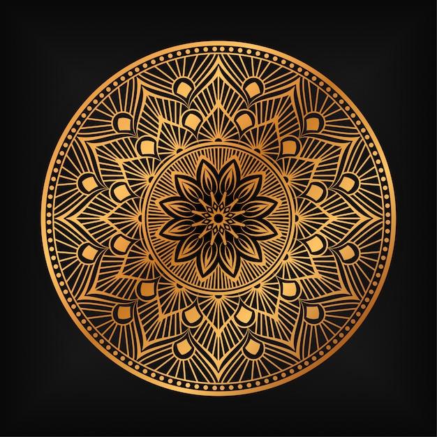 Mandala De Luxe Fond Islamique Vecteur Premium