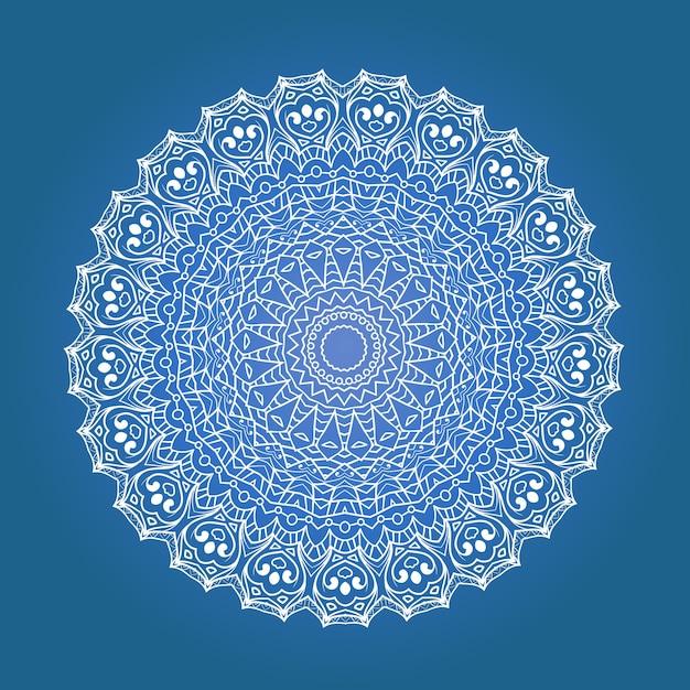 Mandala De Méditation Fractale Ethnique Vecteur Premium
