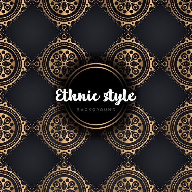 Mandala de modèle sans couture de luxe Vecteur gratuit