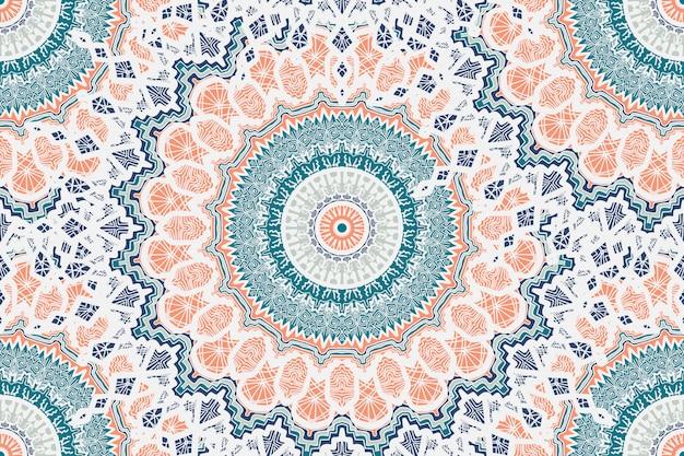 Mandala seamless pattern Vecteur Premium