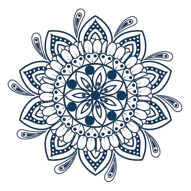 Mandala Vintage éléments Décoratifs Oriental Modèle Vector Illustration Graphisme Vecteur Premium
