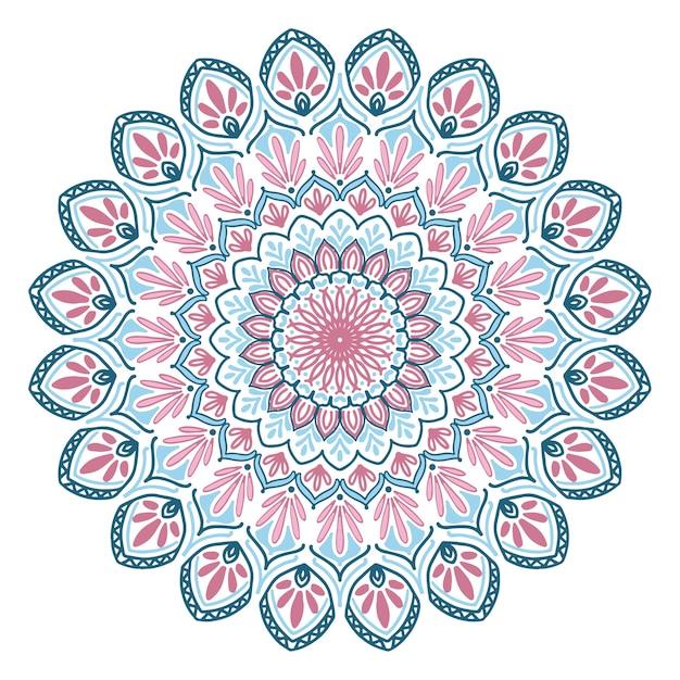 Mandalas livre de coloriage Vecteur Premium
