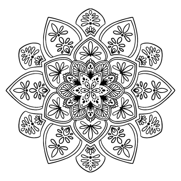 Mandalas pour cahier de coloriage. vecteur oriental, modèles de thérapie anti-stress. logos de yoga vec Vecteur Premium