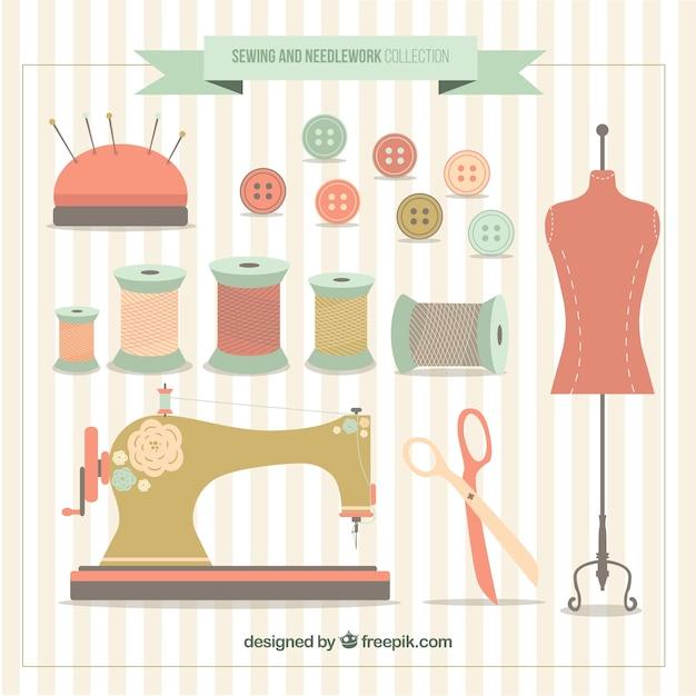 Mannequin Avec Des éléments De Couture Vecteur gratuit