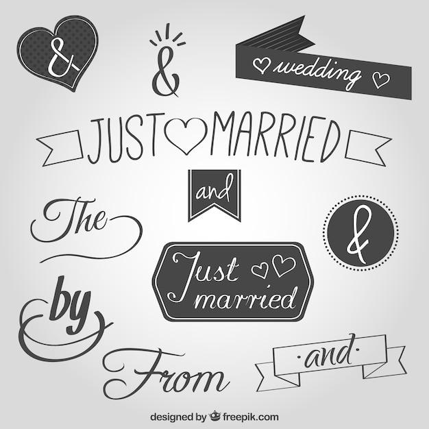 ... de mariage essentiels et symbole esperluette vecteur gratuit - Symbole