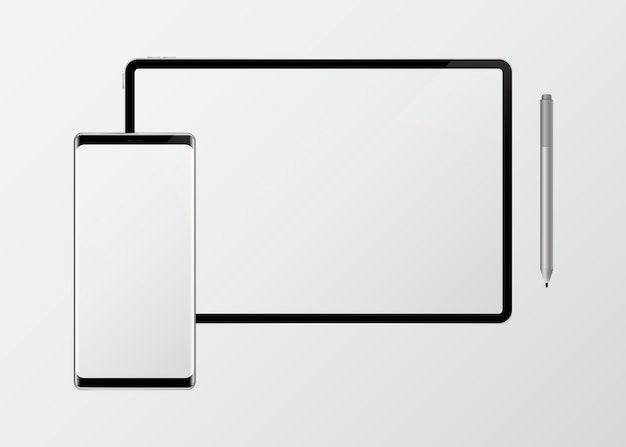 Maquette d'appareil numérique Vecteur gratuit