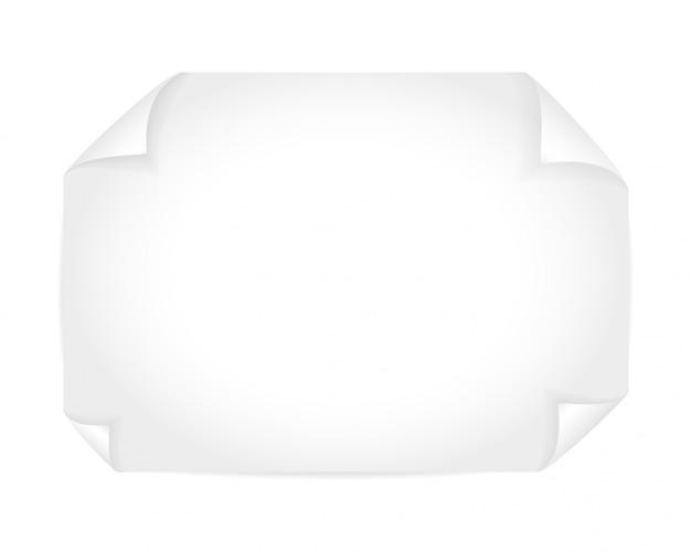 Maquette blanche Vecteur Premium