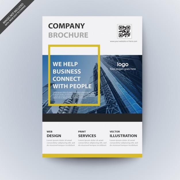Maquette de brochure d'entreprise moderne Vecteur Premium