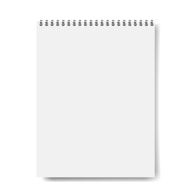 Maquette de cahier isolée Vecteur Premium