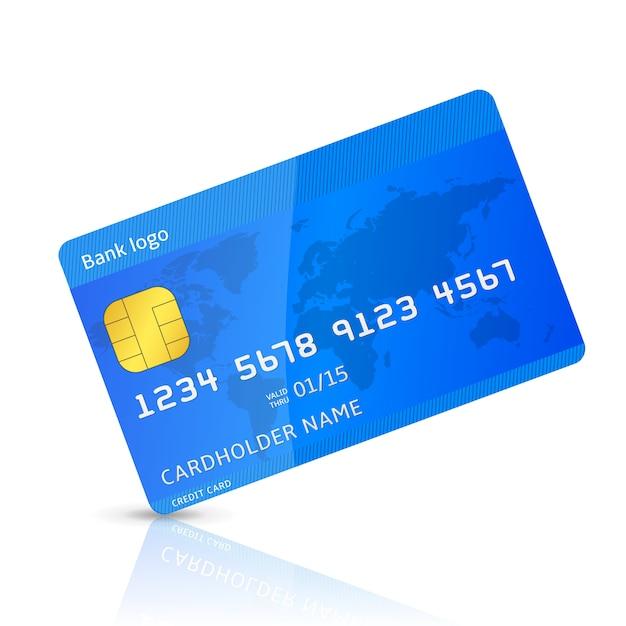 Maquette de carte de crédit Vecteur Premium