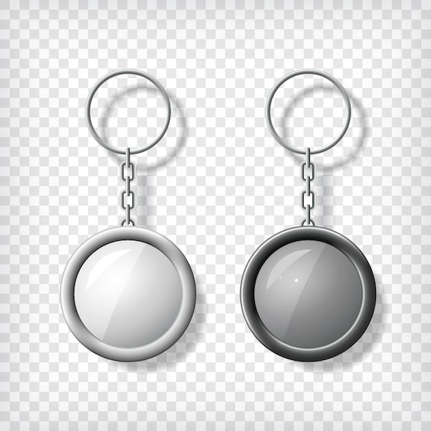 Maquette de deux pendentifs Vecteur Premium