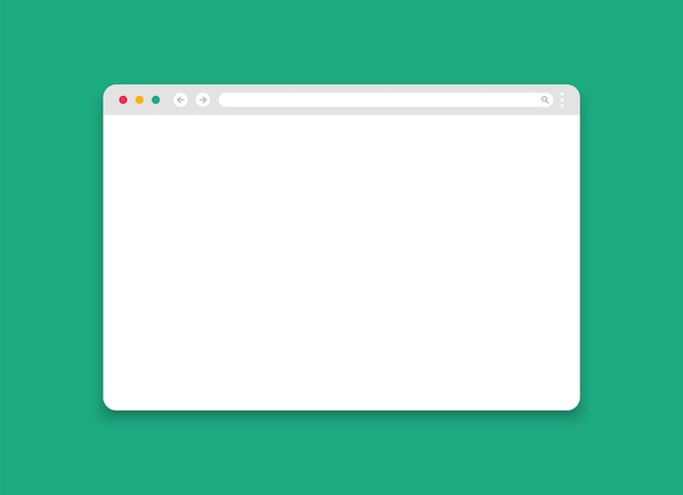 Maquette De La Fenêtre Du Navigateur. Page Internet Moderne. Vecteur Premium