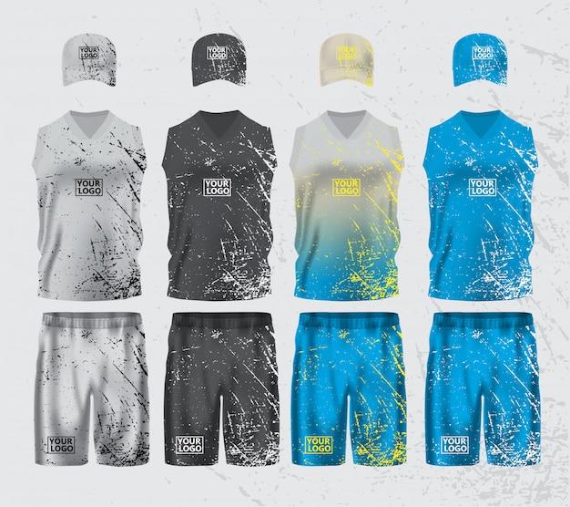 Maquette de modèle de conception de vêtements de sport Vecteur Premium