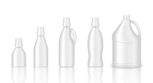 Maquette en plastique réaliste gallon packaging Vecteur Premium