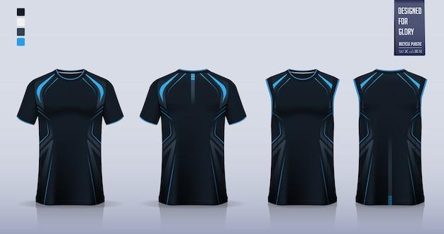 Maquette De T-shirt, Conception De Modèle De Chemise De Sport Pour Maillot De Football Vecteur Premium