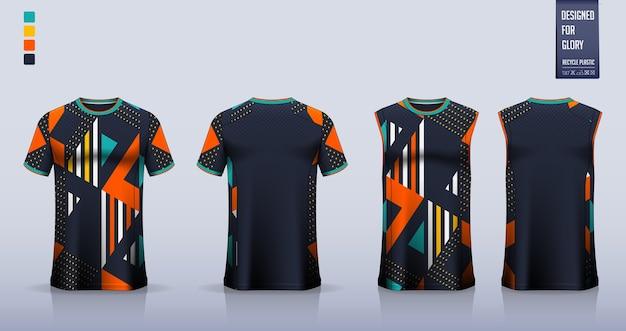 Maquette De T-shirt. Conception De Modèle De Chemise De Sport. Vecteur Premium