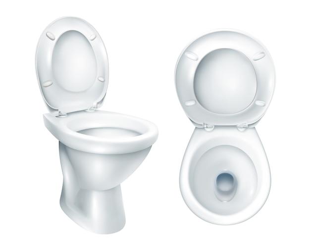 Maquette de toilette réaliste Vecteur gratuit