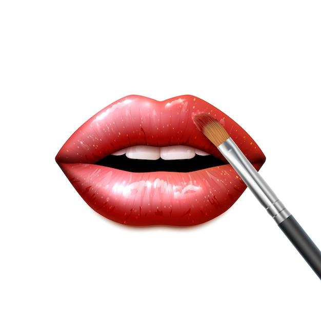 Maquillage Des Lèvres Vecteur gratuit