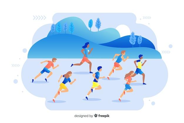 Marathon Vecteur gratuit