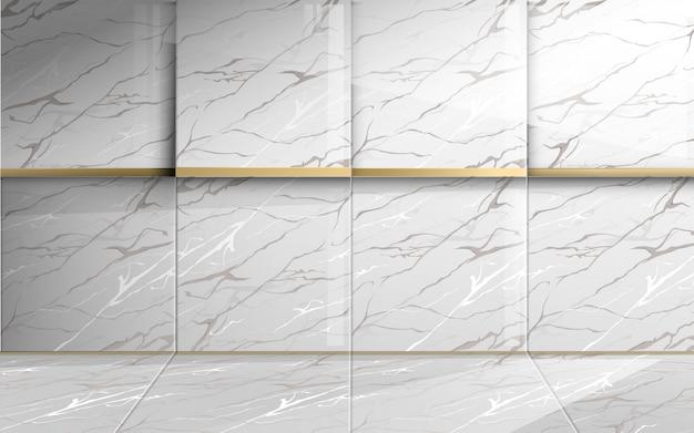 Marbre Carré Avec Texture Dorée. Abstrait Luxe. Vecteur Premium