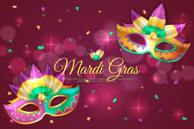 Mardi Gras Réaliste Vecteur gratuit