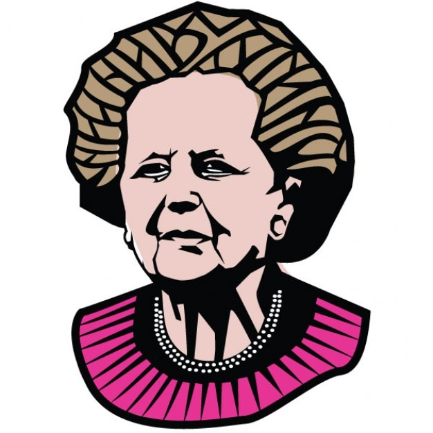 Margaret Thatcher Portrait Premier Ministre Illustration Vecteur gratuit