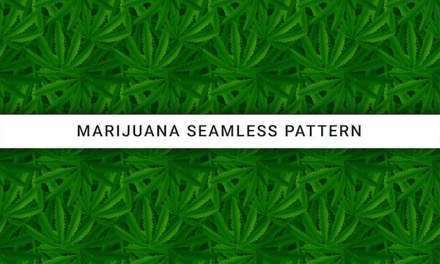 La Marijuana Laisse Modèle Vectorielle Continue Vecteur Premium