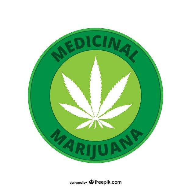 La marijuana médicale Vecteur gratuit