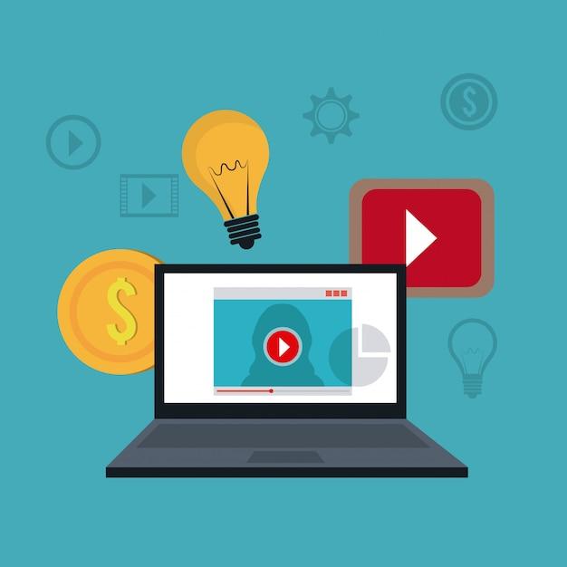 Marketing digital et social Vecteur Premium